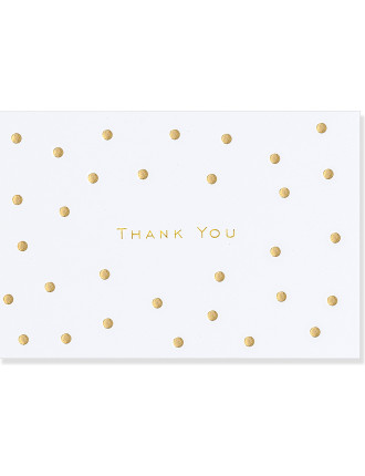 14 Pack Gold Dots Thankyou Cards