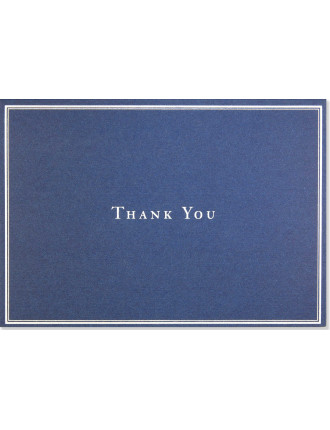 14 Pack Silver & Navy Thankyou Cards