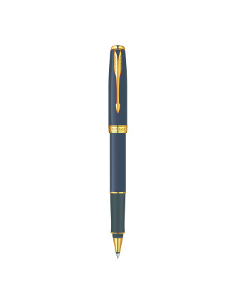 Rollerball Sonnet Black Lacquer Gold Trim