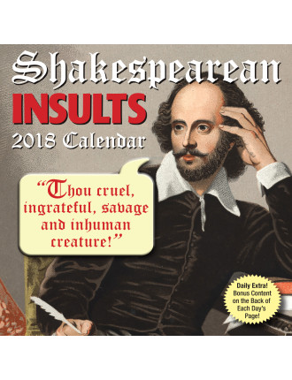2018 Desk Calendar Shakespearean Insults