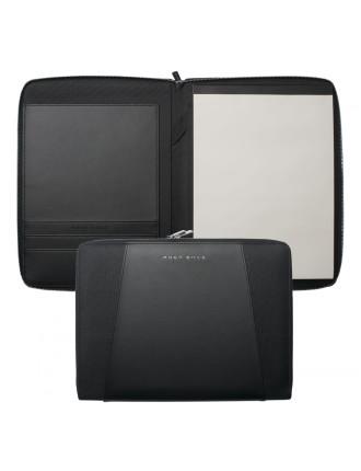 Keystone Black A4 Zip Conference Folder