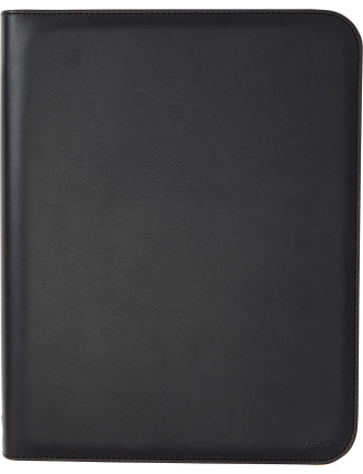 Metropol Zip Folio With Rings A4 Black