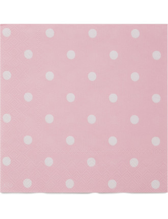 Lunch Napkins - Spot Rose