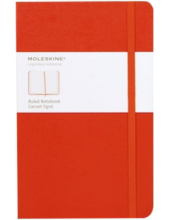 W12 Hardcover Notebook Ruled Red Large