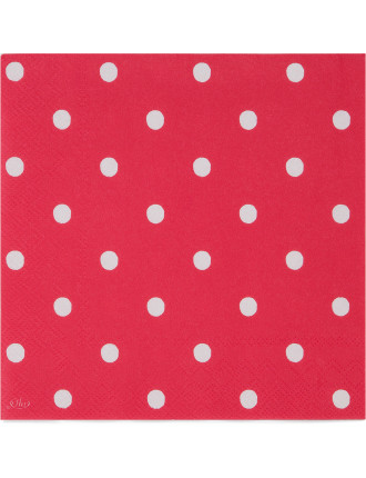 Lunch Napkins - Spot Cherry Red