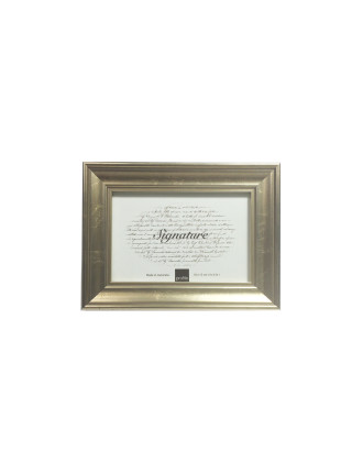 Classic Timber Photo Frame 4 x 6' / 10 x 15cm Gold
