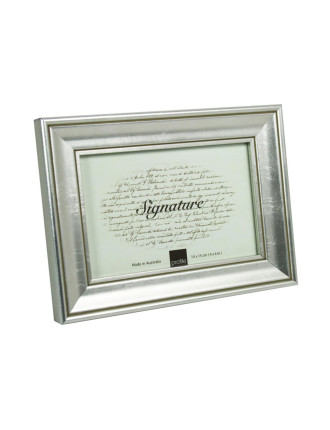 Classic Timber Photo Frame 4 x 6' / 10 x 15cm Silver