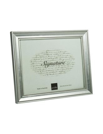 Classic Timber Photo Frame 8 x 10' / 20 x 25cm Silver