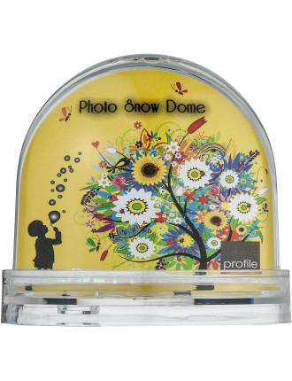 Acrylic Photo Frame Snow Dome 90mm