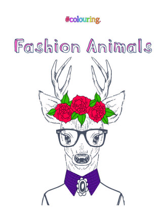 Fashion Animals: Adult Colouring Book