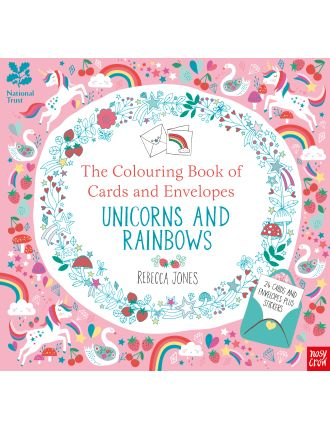 The Colouring Book of Cards & Envelopes: Unicorns & Rainbows