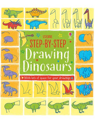 Step By Step Drawing Book Dinosaurs