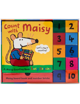 Count With Maisy Board Book & Number Bricks