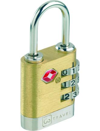 Brass Travel Sentry Lock