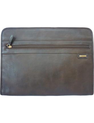 Leather Zip Around Folio