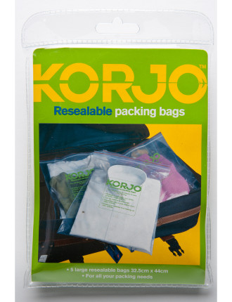 Resealable Packing Bags - Pack of Five