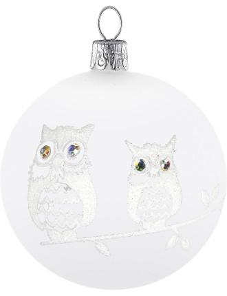 8cm Owl Bauble