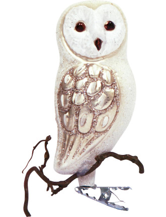 Owl On Branch Ornament