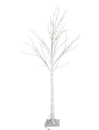 213cm Birch Tree 136Lit White