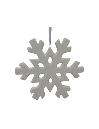 Ceramic Snowflake White