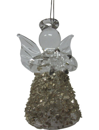 Mini Glass Angel Clear