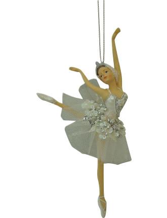 Orn-Dancing Ballerina White
