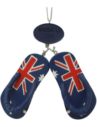 Orn-Aussie Flag Thongs Blue