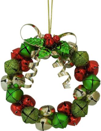 Orn-Jingle Bell Wreath Multi