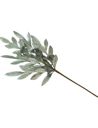 Gar-Pick Xmas Leaves Silver