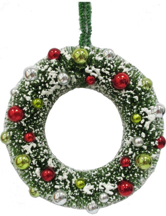 Sisal Snow Wreath
