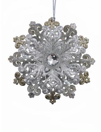 Glitter Snowflake Gold/Silver