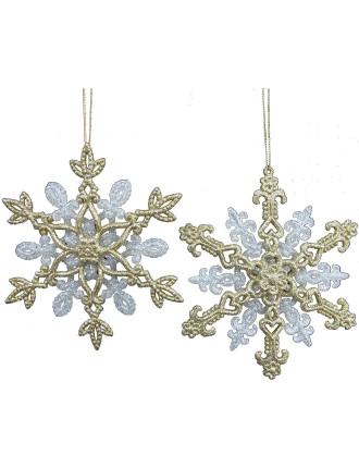 Glitter Snowflake Bronze/Gold