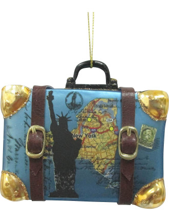 New York Suitcase Blue