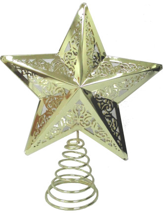 Acc-Tree Topper Star Metal Gold