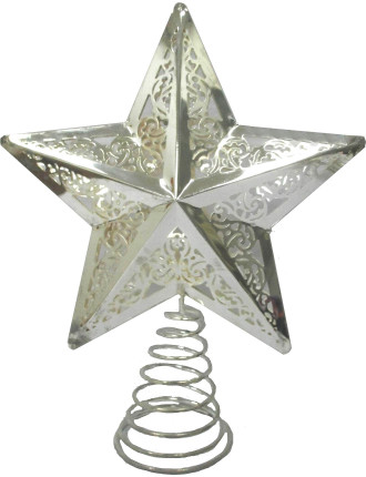 Acc-Tree Topper Star Metal Silver