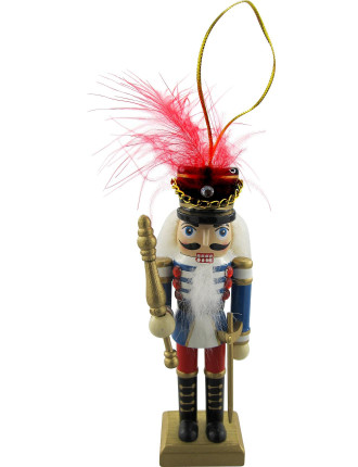 Nutcracker Soldier Wood Blue