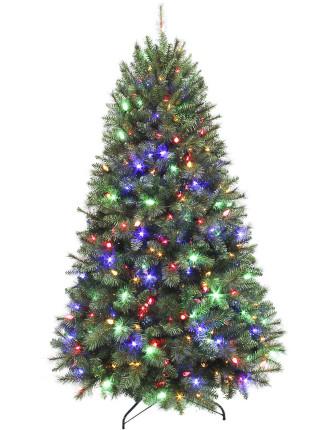 210cm Wesley Luxury Pine Pre-Lite Tree Green