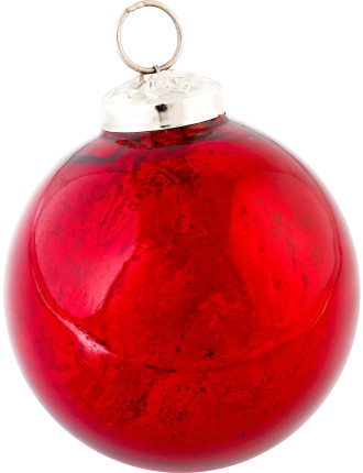 Red Mercury Glass Bauble