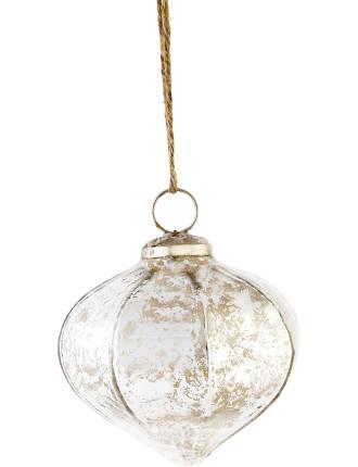 Silver Mercury Glass Finial