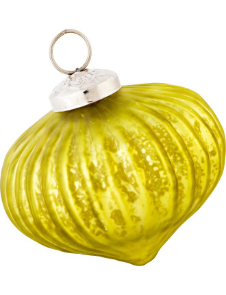 Light Green Ribbed Bauble