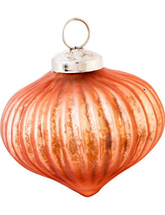 Bronze Ribbed Bauble