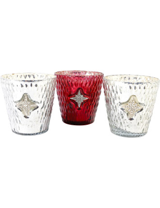 Votive Candle Holders - 3Pc