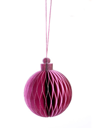 Purple Honeycomb Bauble