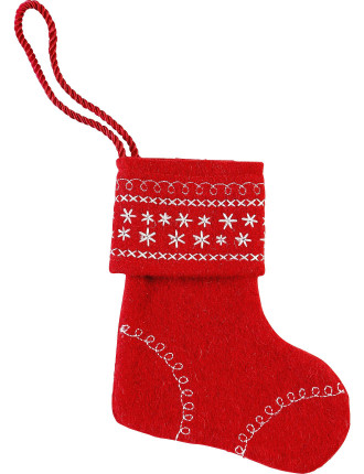 Mini Stocking With Snowflakes