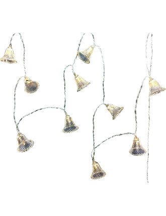 Light-Metal Mesh Bell String Light 10U Silver