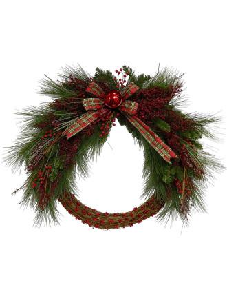 Gar-Wreath 90cm Bell & Berry Red/Green