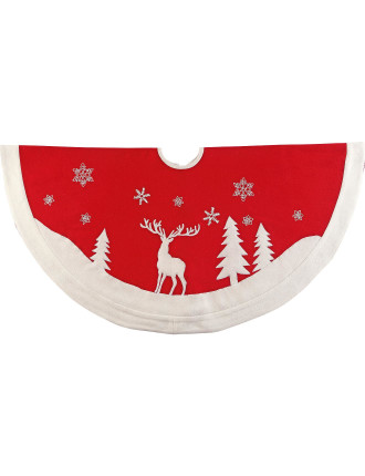 Acc-Tree Skirt 122cm Reindeer Red