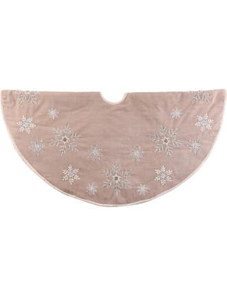 Acc-Tree Skirt 122cm Snowflake Ecru