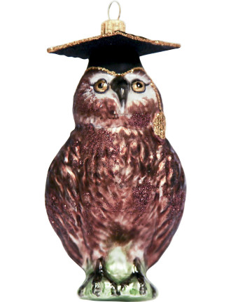 Owl With Hat Ornament