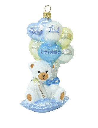 Teddy Baby First Christmas - Blue